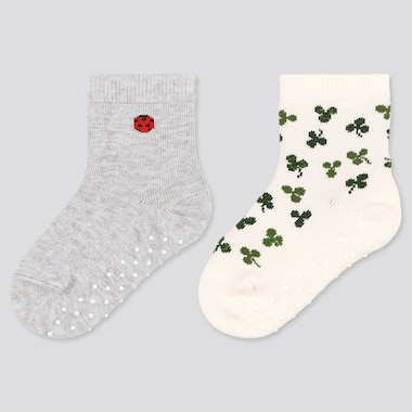 Baby Socks (2 Pairs), White, Medium