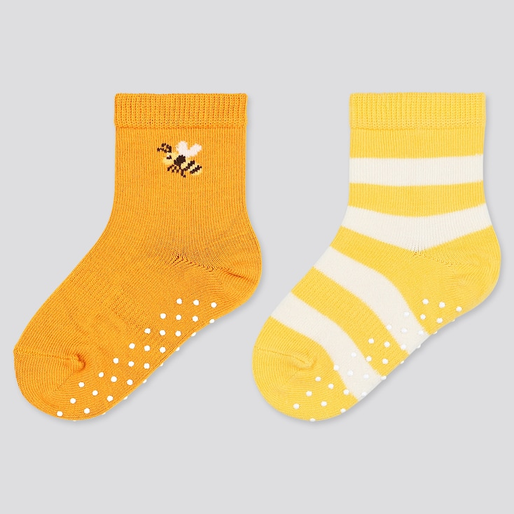 Baby Socks (2 Pairs), Orange, Large