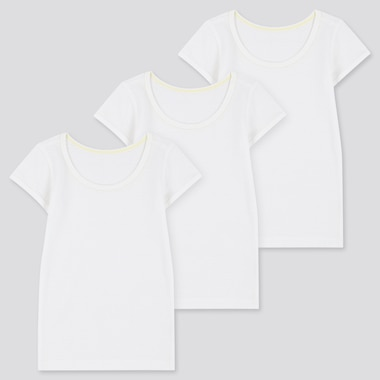 Babies Toddler Cotton Mesh Short Sleeved T-Shirts (Three Pack)