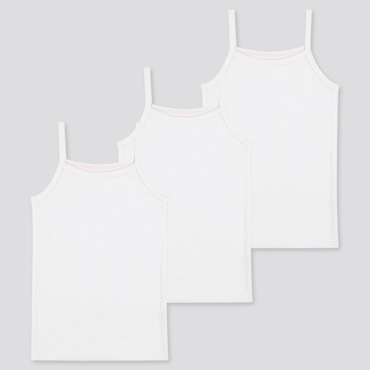 Toddler Cotton Mesh Inner Camisole (Set Of 3) (Online Exclusive), White, Large