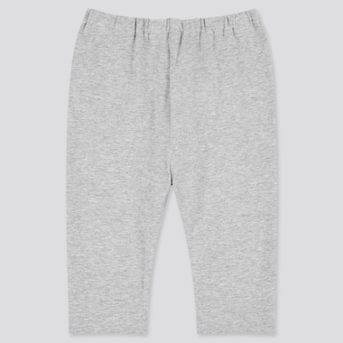 Baby Cropped Leggings, Gray, Medium