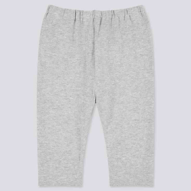 Baby Cropped Leggings, Gray, Large