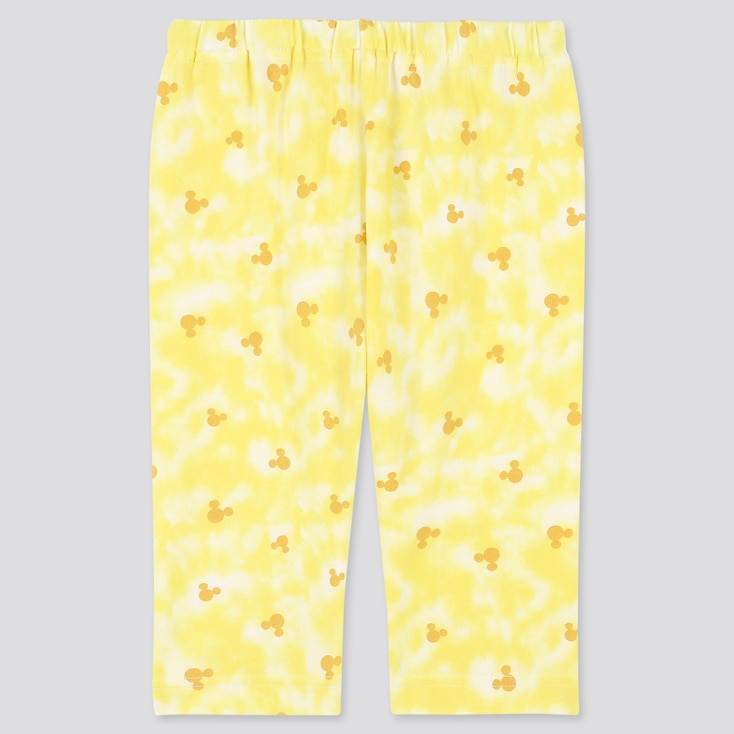 Baby Mickey Aloha Cropped Leggings, Yellow, Large
