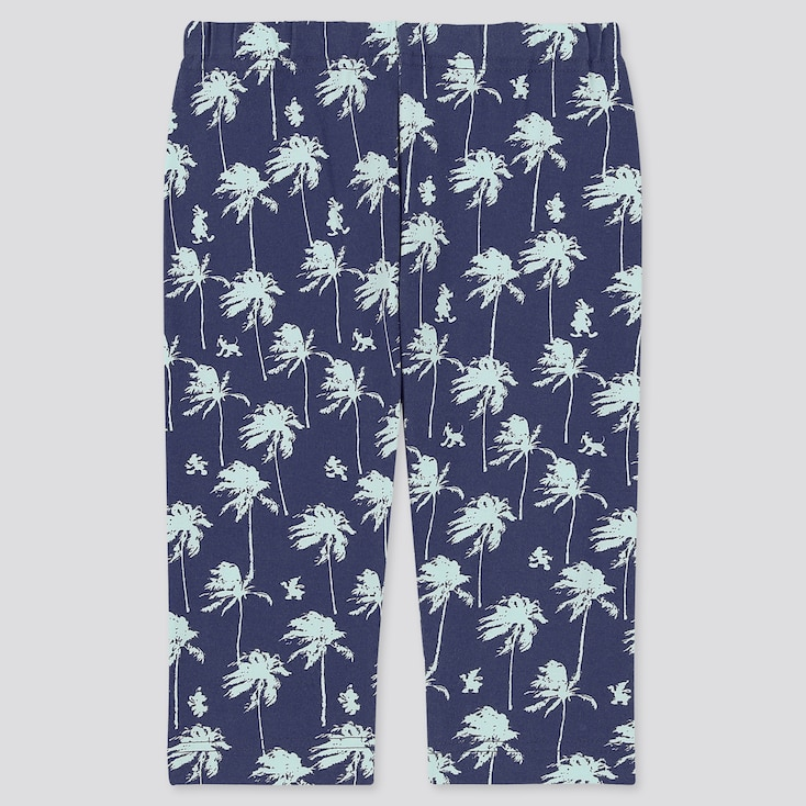 Baby Mickey Aloha Cropped Leggings, Navy, Large