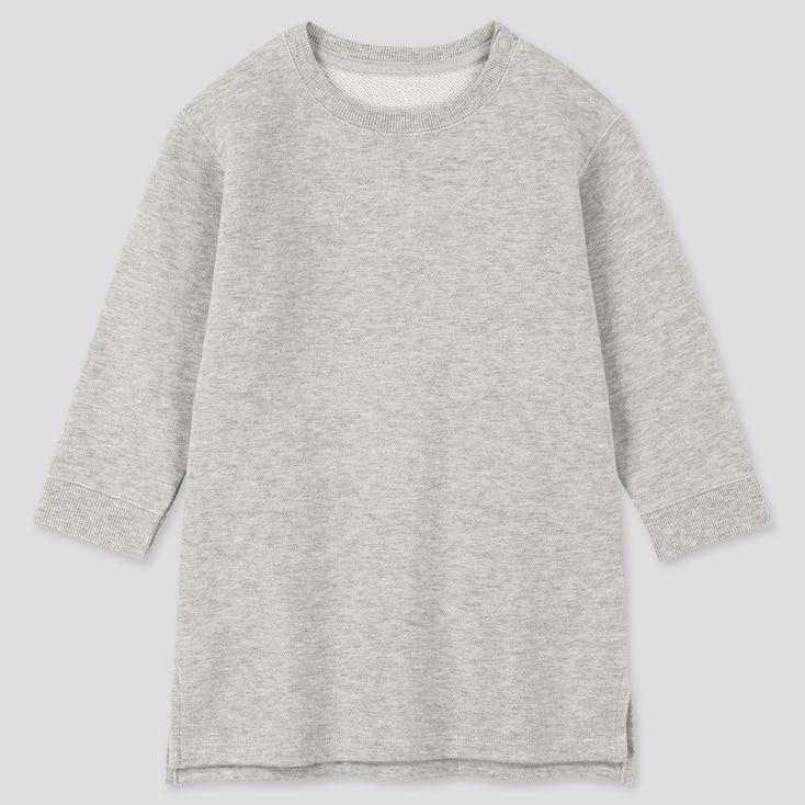 Toddler  Long-Sleeve Sweat Dress, Gray, Large
