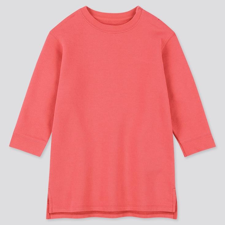 Toddler  Long-Sleeve Sweat Dress, Pink, Large