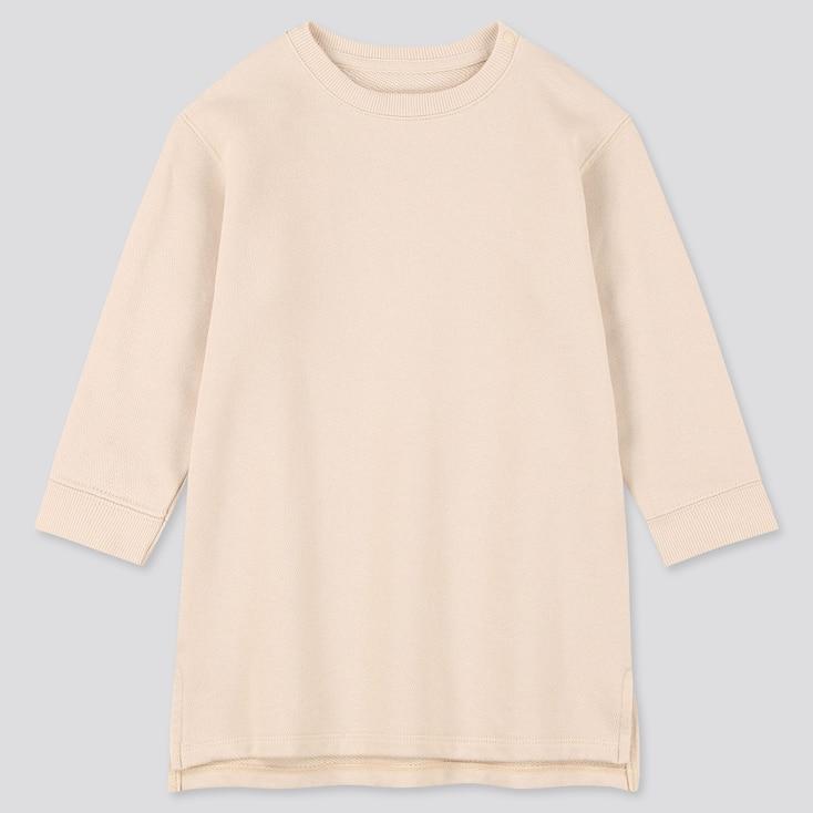Toddler  Long-Sleeve Sweat Dress, Natural, Large