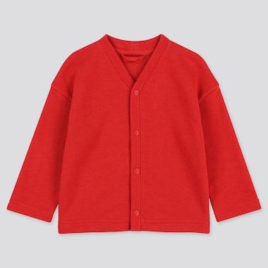 TODDLER SWEAT LONG-SLEEVE CARDIGAN, RED, medium