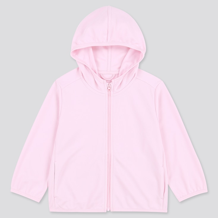 Toddler Uv Protection Long-Sleeve Hoodie, Pink, Large