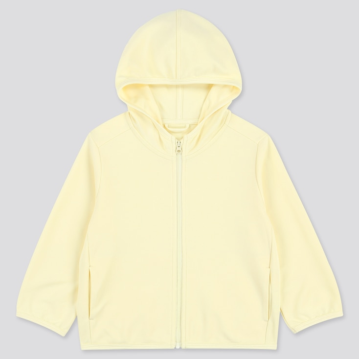 Toddler Uv Protection Long-Sleeve Hoodie, Yellow, Large