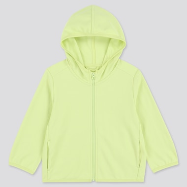 Toddler Uv Protection Long-Sleeve Hoodie, Light Green, Medium