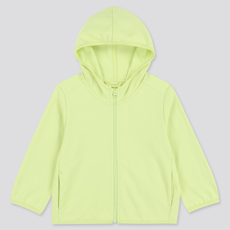 Toddler Uv Protection Long-Sleeve Hoodie, Light Green, Large