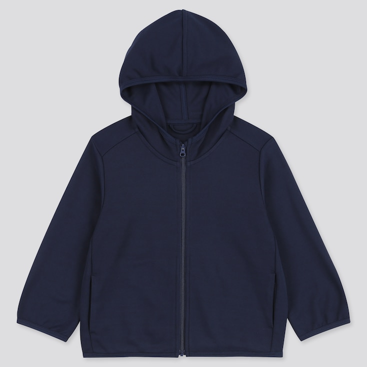 Toddler Uv Protection Long-Sleeve Hoodie, Navy, Large