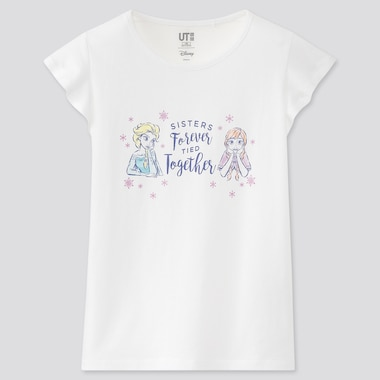Kids Disney Heroines Ut (Short-Sleeve Graphic T-Shirt), White, Medium