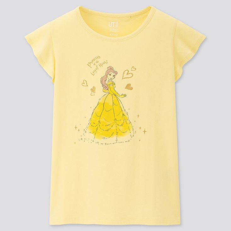 Kids Disney Heroines Ut (Short-Sleeve Graphic T-Shirt), Yellow, Large