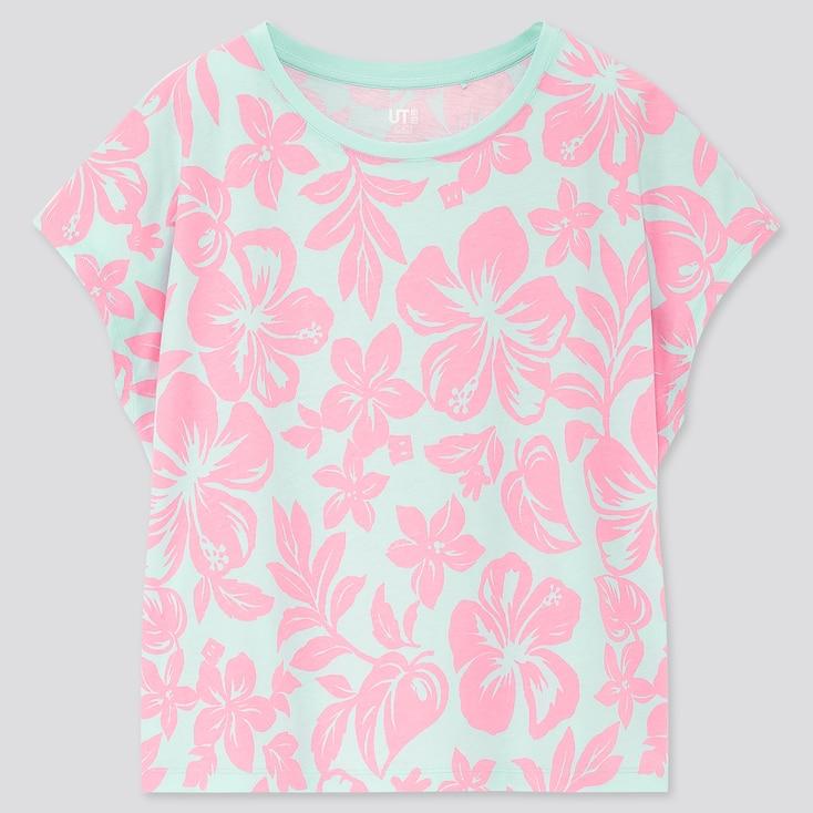 Women Mickey Aloha Ut (Short-Sleeve Graphic T-Shirt), Green, Large