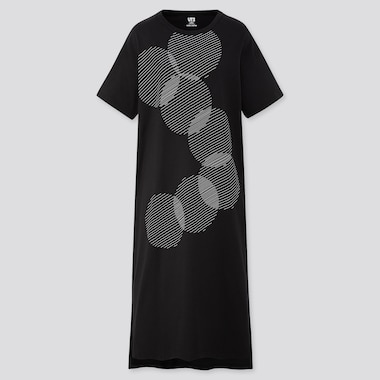 WOMEN COLOUR AND RHYTHM UT GRAPHIC SHORT SLEEVED T-SHIRT DRESS