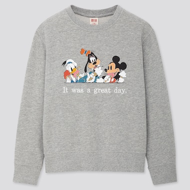 Kids Disney Stories Long-Sleeve Sweatshirt, Gray, Medium