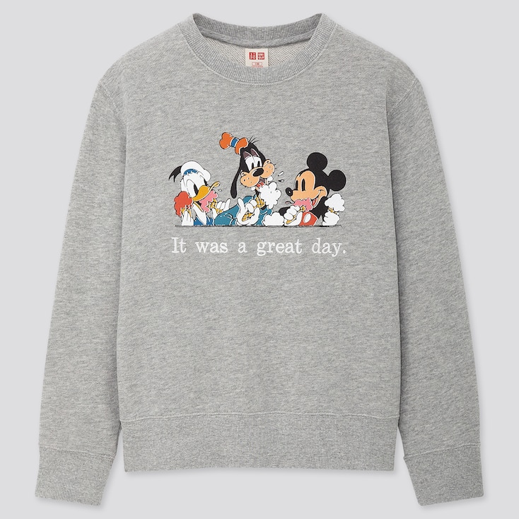 Kids Disney Stories Long-Sleeve Sweatshirt, Gray, Large