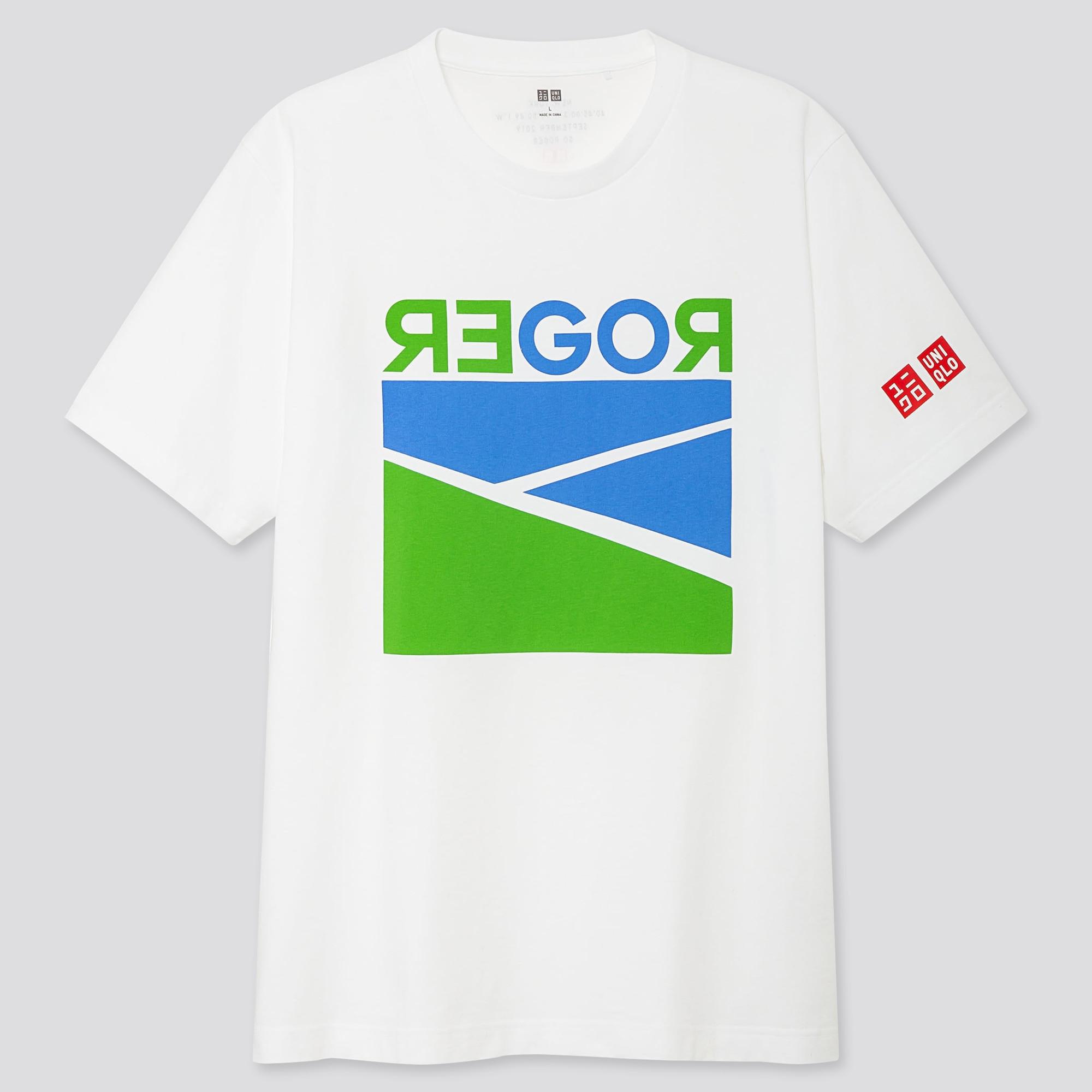 Men Short Sleeve Graphic T Shirt Roger Federer 19us Uniqlo Us
