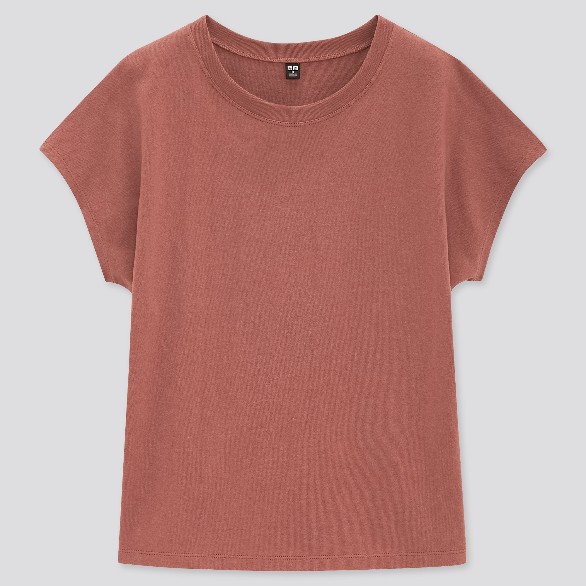 WOMEN COTTON RELAXED FRENCH SHORT-SLEEVE T-SHIRT