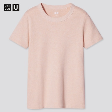 Women U Crew Neck Short-Sleeve T-Shirt, Pink, Medium