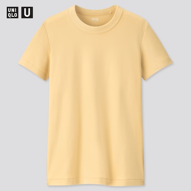 Women U Crew Neck Short-Sleeve T-Shirt, Cream, Medium