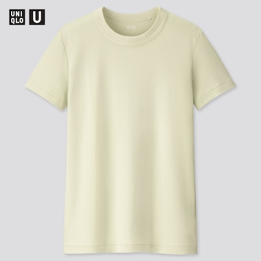 Women U Crew Neck Short-Sleeve T-Shirt, Light Green, Medium