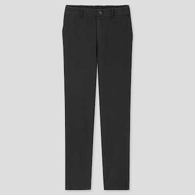 Women Linen Cotton Tapered Pants, Black, Medium