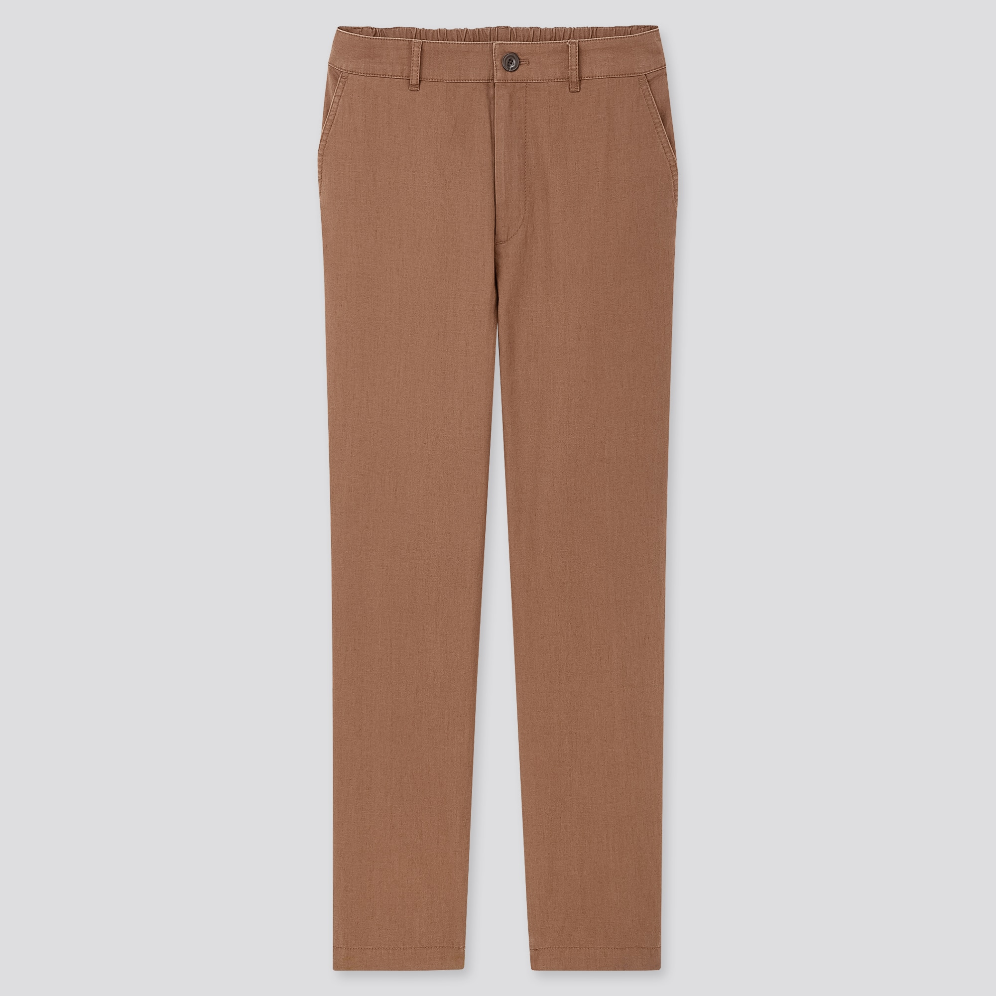 women linen cotton tapered pants