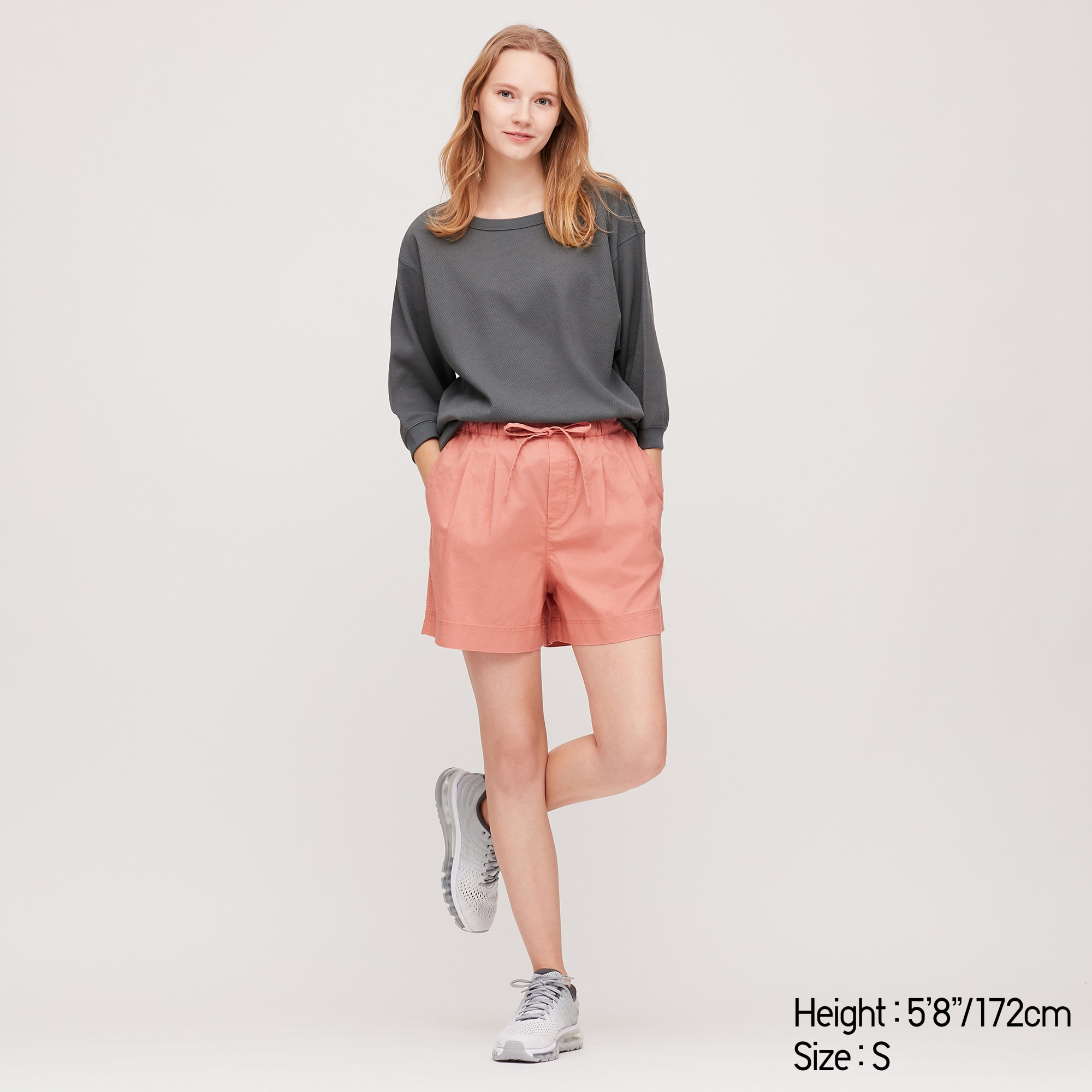 women linen cotton relaxed shorts