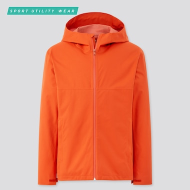 Men Blocktech Parka, Orange, Medium