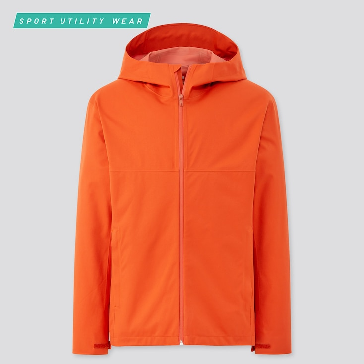 Men Blocktech Parka, Orange, Large