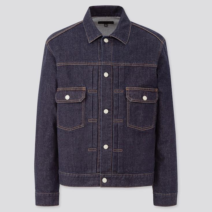 Men Denim Jacket, Blue, Large