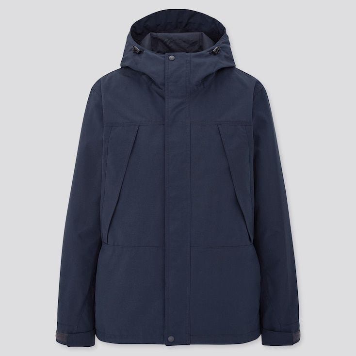 Men Mountain Parka, Navy, Large