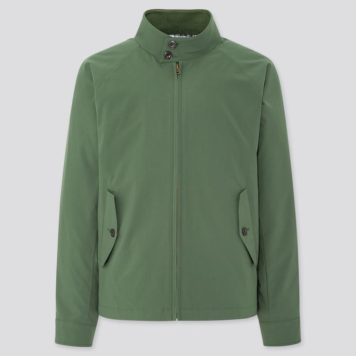 Men Harrington Jacket, Olive, Large