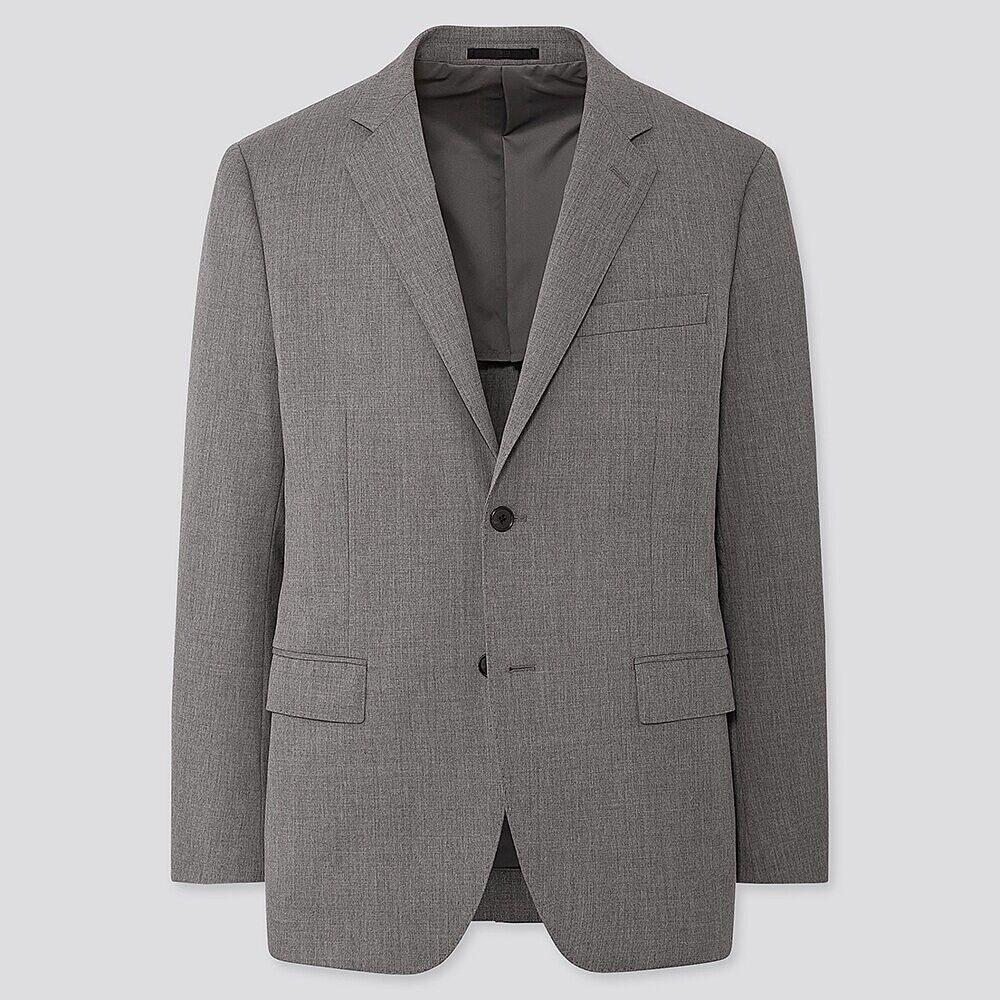 Men Wool Stretch Slim Fit Blazer Jacket