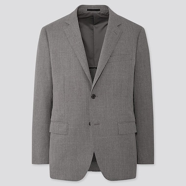 Men Wool Stretch Slim Fit Blazer Jacket