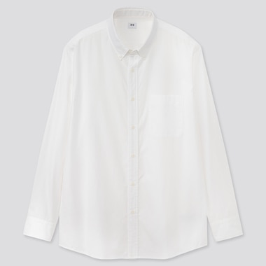 Men Extra Fine Cotton Broadcloth Regular Fit Shirt (Button-Down Collar)