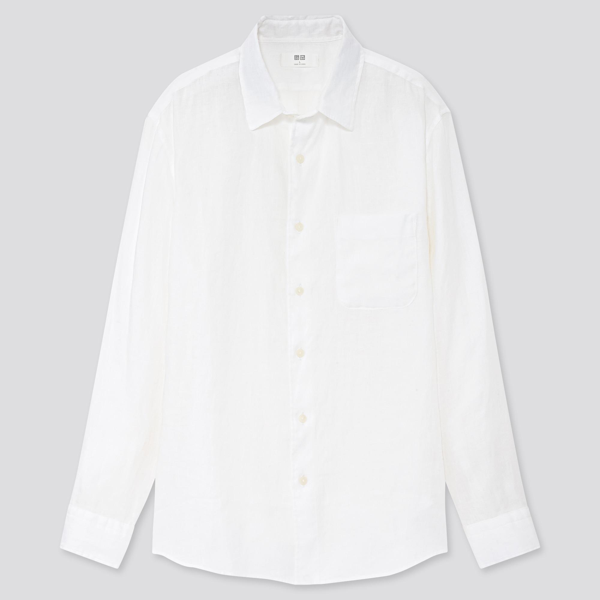 men premium linen long-sleeve shirt