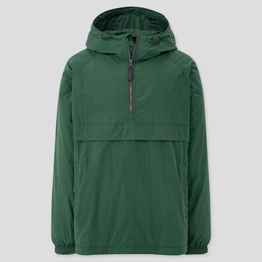 Men Oversized Anorak Parka, Dark Green, Medium