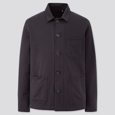 Men Washed Jersey Overshirt