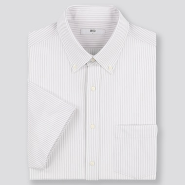 Men DRY Easy Care Comfort Regular Fit Short Sleeved Shirt (Button-Down Collar)