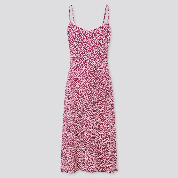 Women Printed Cami Dress, Purple, Large
