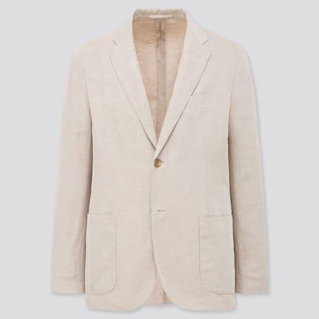 Men Linen Blend Jacket