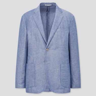 MEN LINEN BLEND JACKET