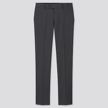Men Wool Stretch Suit Trousers