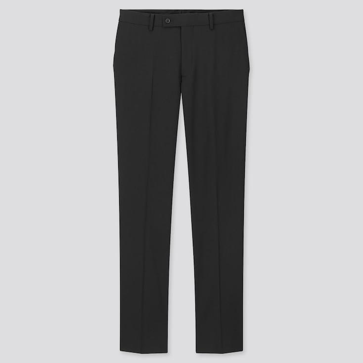 Men Stretch Wool Pants, Black, Large