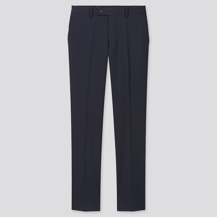 Men Stretch Wool Pants Set  (Online Exclusive), Navy, Large