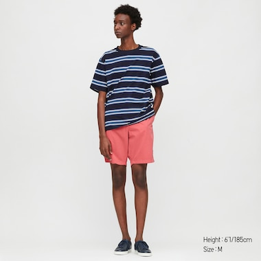 Men Chino Shorts, Pink, Medium